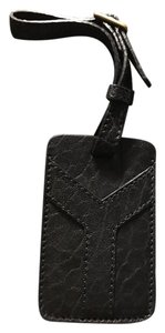 Saint Laurent Saint Laurent YSL black luggage tag / bag charm / holder