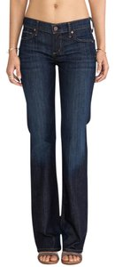 Citizens of Humanity Petite Sexy Designer High End Trendy Boot Cut Jeans-Dark Rinse