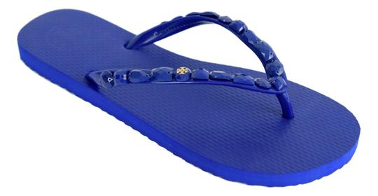 Tory Burch Jeweled Flip Flops Royal Navy Sandals | Sandals ...