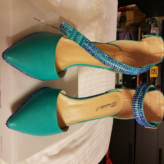 Other Turquoise/ green with blue and gold crystals Formal
