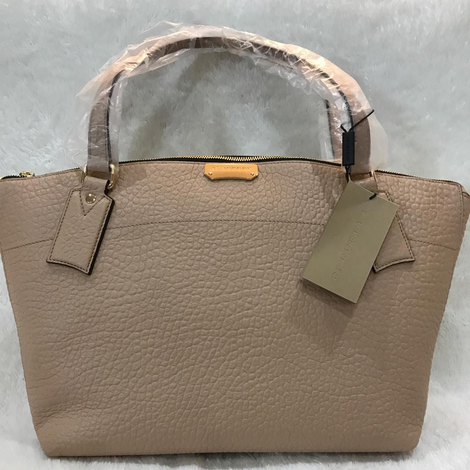 0482f69dccdc Burberry Medium Welburn Pale Apricot Leather Tote - Tradesy