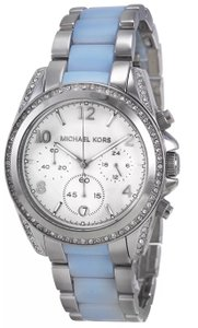 Michael Kors Michael Kors MK6137 Women's Blair Blue-Teal Silver Chambray Watch New