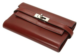 Hermès Hermes Kelly Foldout Wallet Rouge H Box