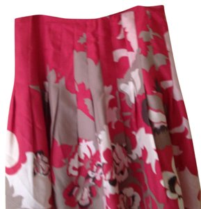 Tahari Skirt Pink, tan, white