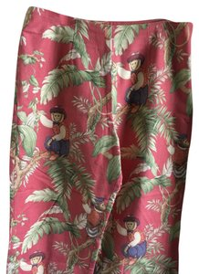 Other Capris red with jungle print