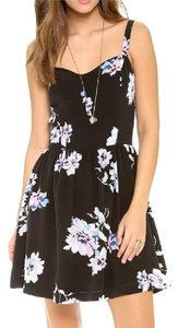 Joie short dress Silk Floral Print Sleeveless Sweetheart on Tradesy