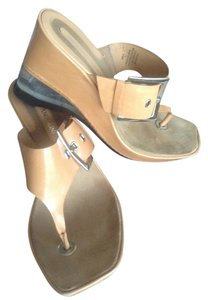 Enzo Angiolini Leather tan (natural) Mules