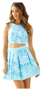 Lilly Pulitzer Crop Melody Set For Love And Lemons Top Resort white la via loca