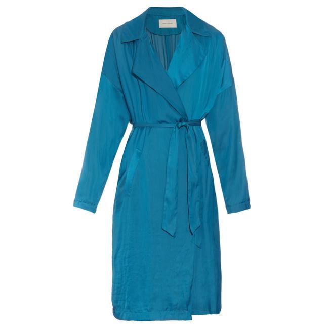 Preload https://img-static.tradesy.com/item/21340191/cedric-charlier-blue-relaxed-trench-coat-jacket-size-4-s-0-0-650-650.jpg