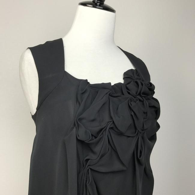 COS Ruching Night Out Date Night Silk Top Black