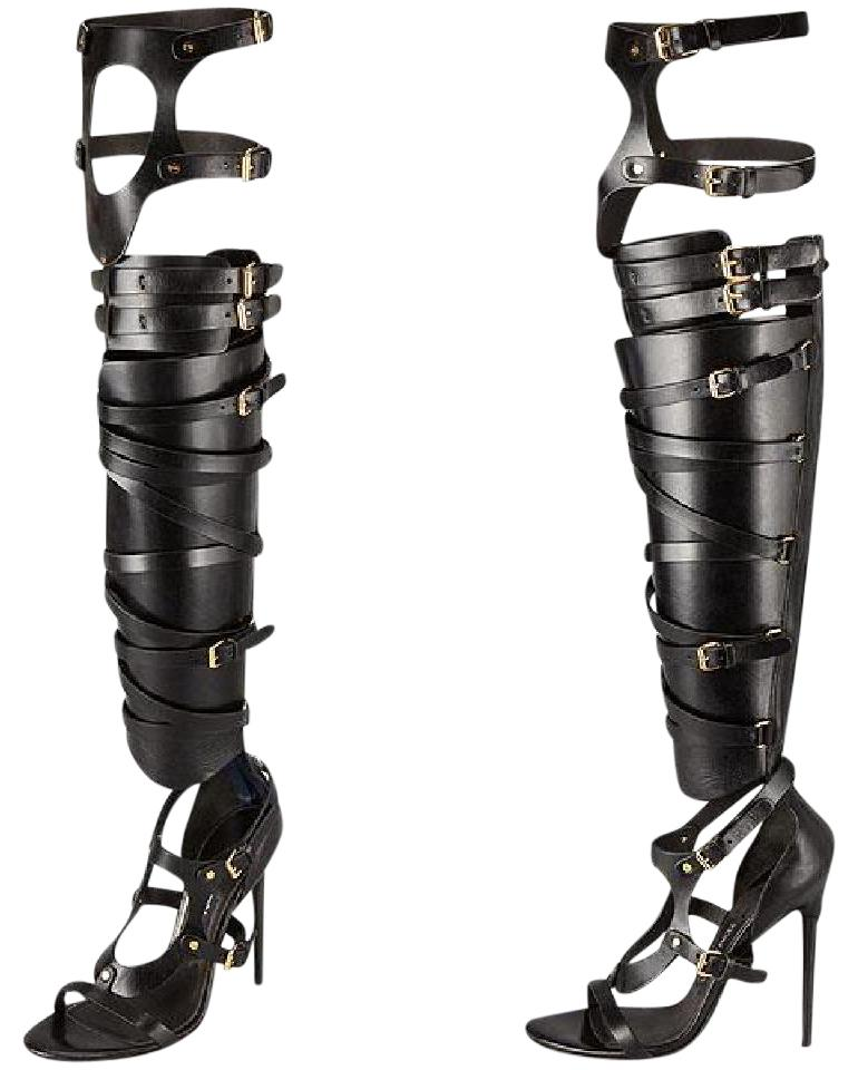 0a6bdec362c8 Tom Ford Over-the-knee Bandage Gladiator Sandals Size EU 37.5 ...
