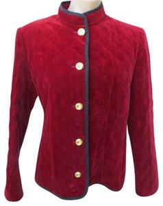 Caroline Rohmer Mandarin Velvet French Designer Cotton Burgundy Jacket