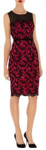 Karen Millen Lace Date Night Fuchsia Dress