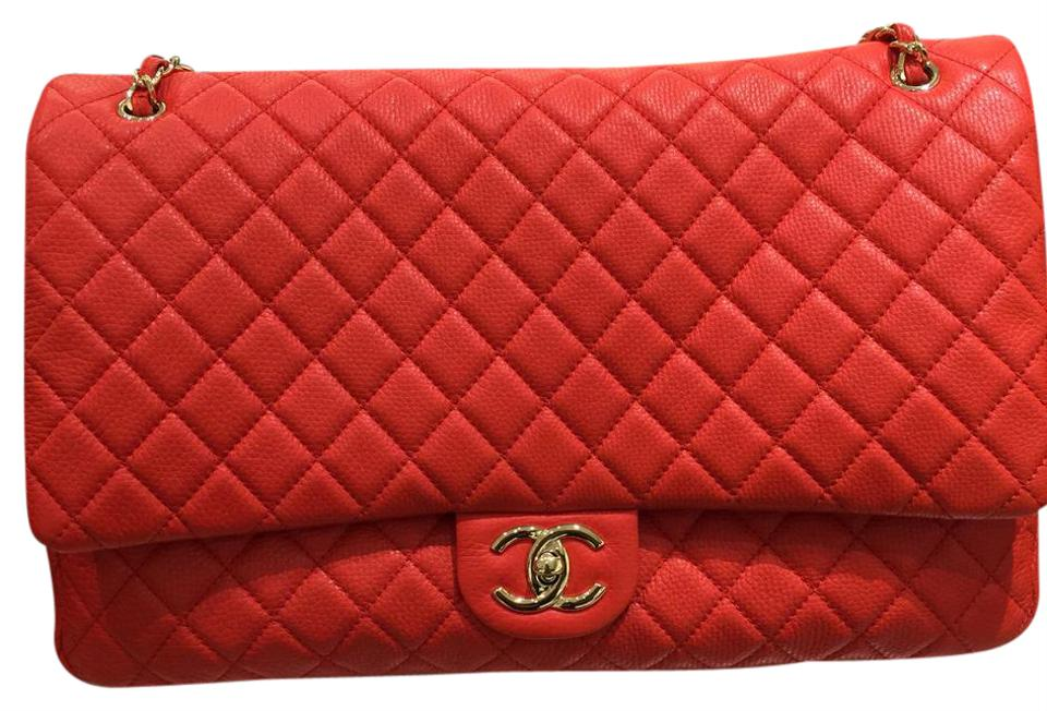 f4af2b3f19d3 Chanel Classic Flap Quilted Xxl Airline Red Caviar Weekend/Travel ...