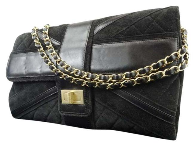 Chanel Classic Flap Sold Av/Tb 12/16/19 Quilted Maxi 217680 Black Leather Shoulder Bag Image 1