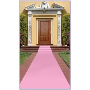 Pink Fabric Wedding Aisle Carpet Runner 24 In By 15 Ft Pink Theme