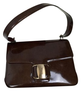 Salvatore Ferragamo Patent Leather Vintage Shoulder Bag