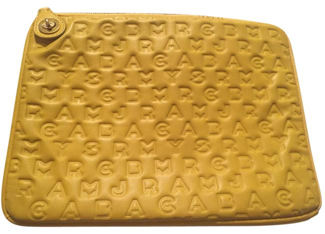 Marc by Marc Jacobs Dandelion Yellow Embossed Leather Laptop Sleeve Tech Accessory Image 1