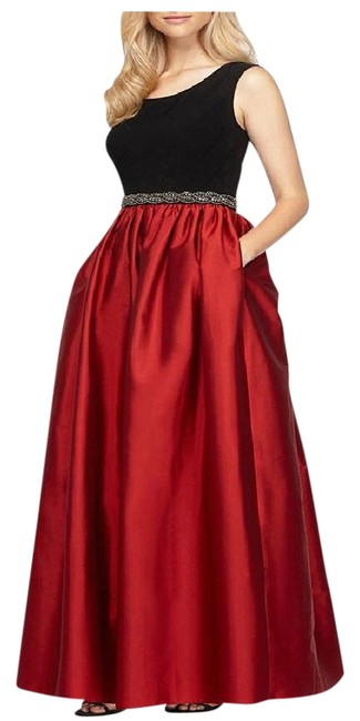 Preload https://img-static.tradesy.com/item/21340697/alex-evenings-black-and-red-embellished-waist-sleeveless-ball-gown-long-formal-dress-size-10-m-0-1-650-650.jpg