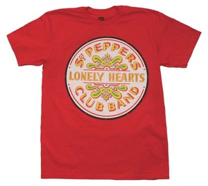 Other Band Hippie Boho The Treasured Hippie The Beatles T Shirt Red