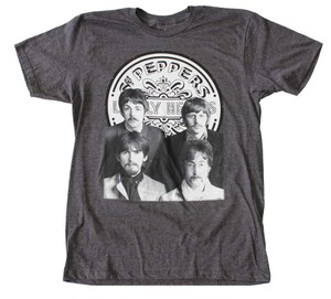 Other Band Hippie Boho The Treasured Hippie The Beatles T Shirt Heather Charcoal