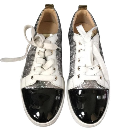 Preload https://img-static.tradesy.com/item/21340961/christian-louboutin-gondoliere-trainer-sneaker-black-white-patent-silver-flats-sneakers-size-eu-36-a-0-1-540-540.jpg