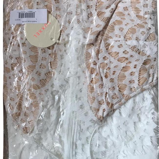 Item - White Luxxel Mid-length Night Out Dress Size 10 (M)