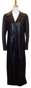 Florence Moon Leather Full Length Made In Italy Trench Coat