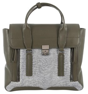 3.1 Phillip Lim Pashli Leather Lizard Embossed Satchel