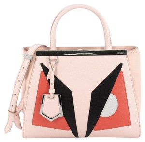 Fendi 2joursmonster Calfskin Shoulder Bag