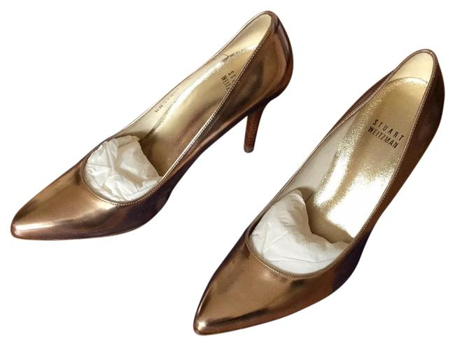 Stuart Weitzman Nude and Bronze Power Rose Specchio Nw 19057 Pumps Size US 7.5 Regular (M, B) Image 1