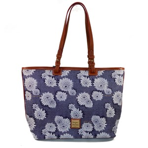 Dooney & Bourke Signature Zinnia Flower Tote in Indigo