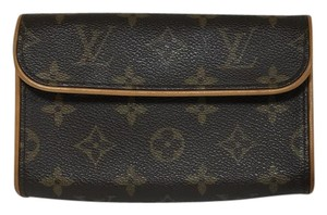 Louis Vuitton Florentine Bum Pochette Monogram Brown Clutch