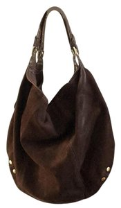 London Fog Suede Leather Slouchy Hobo Bag