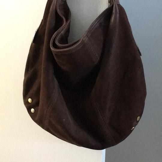 London Fog Suede Leather Slouchy Hobo Bag Image 2
