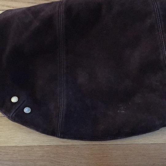 London Fog Suede Leather Slouchy Hobo Bag Image 8