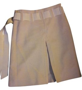 Moschino Belted Skirt Cream