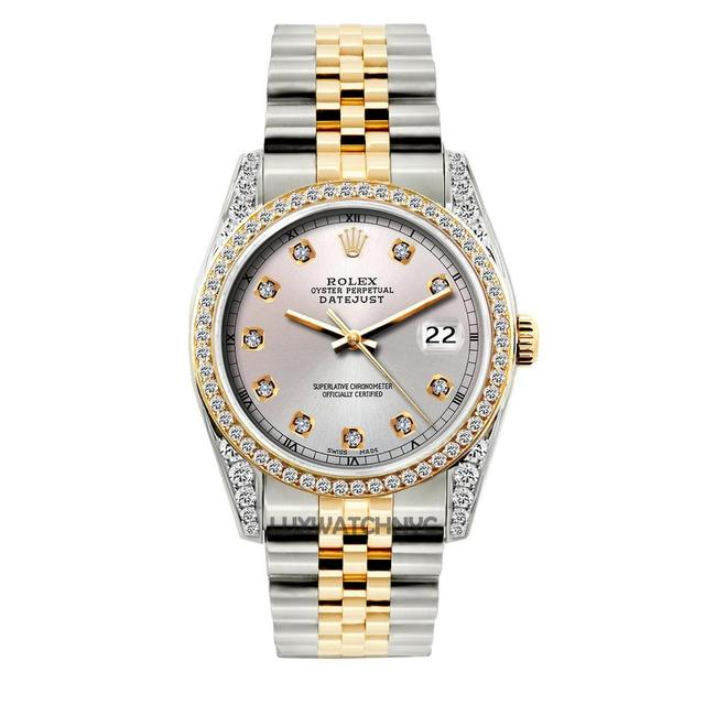 Rolex Off White Dial 2ct 36mm Men's Datejust 2-tone with Appraisal Watch Rolex Off White Dial 2ct 36mm Men's Datejust 2-tone with Appraisal Watch Image 1