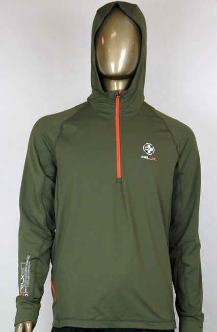 Polo Ralph Lauren Green L Rlx Hooded Quick-wick Twill Pullover Hoodie 0485356 Groomsman Gift Polo Ralph Lauren Green L Rlx Hooded Quick-wick Twill Pullover Hoodie 0485356 Groomsman Gift Image 1