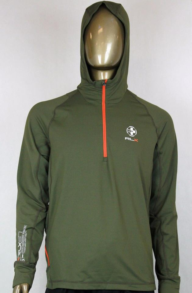 10d1020d967 Polo Ralph Lauren Green Rlx Hooded Quick-wick Twill Pullover Hoodie L  0485356 Groomsman Gift ...