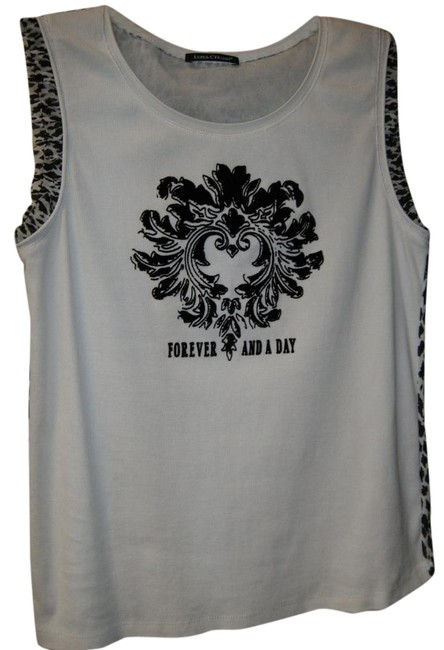 Item - Black and White Tank Top/Cami Size 14 (L)
