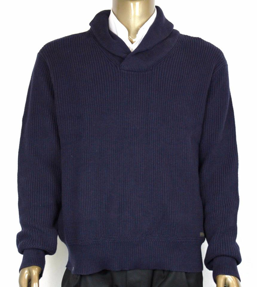 abbab4570 Polo Ralph Lauren Navy XL Mens Cotton Shawl-collar Sweater 0186171 Shw  Groomsman Gift Image ...