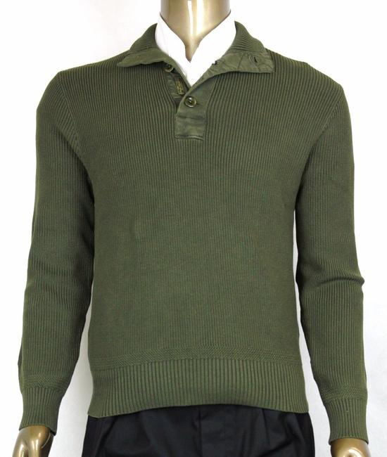 Polo Ralph Lauren Green Men's Ribbed Cotton Mock Neck Sweater M 0186101mbb Groomsman Gift Polo Ralph Lauren Green Men's Ribbed Cotton Mock Neck Sweater M 0186101mbb Groomsman Gift Image 1