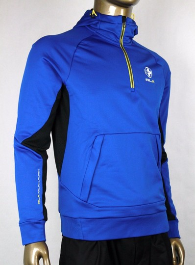 Polo Ralph Lauren Blue Rlx Hooded Brushed-back Microfiber Pullover M 0485353 Groomsman Gift
