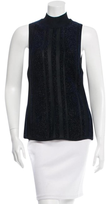Saint Laurent Navy Ysl Tank Top/Cami Size 10 (M) Saint Laurent Navy Ysl Tank Top/Cami Size 10 (M) Image 1