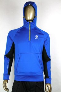 Polo Ralph Lauren Blue Rlx Hooded Brushed-back Microfiber Pullover L 0485353 Groomsman Gift