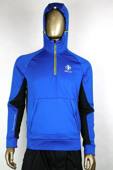 Polo Ralph Lauren Blue L Rlx Hooded Brushed-back Microfiber Pullover 0485353 Groomsman Gift Polo Ralph Lauren Blue L Rlx Hooded Brushed-back Microfiber Pullover 0485353 Groomsman Gift Image 1