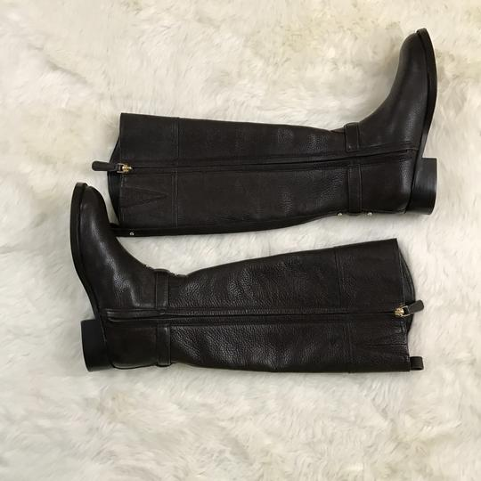 Tory Burch Knee High Leather Winter Equestrian Brown Boots