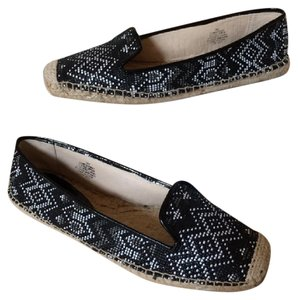 Nine West Slip-on Espadrilles Black & White Flats