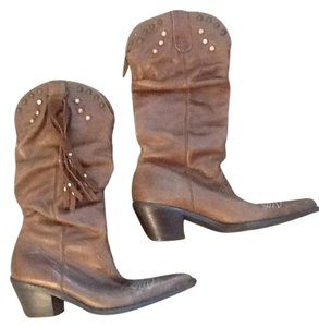 Steve Madden Leather Brown Boots